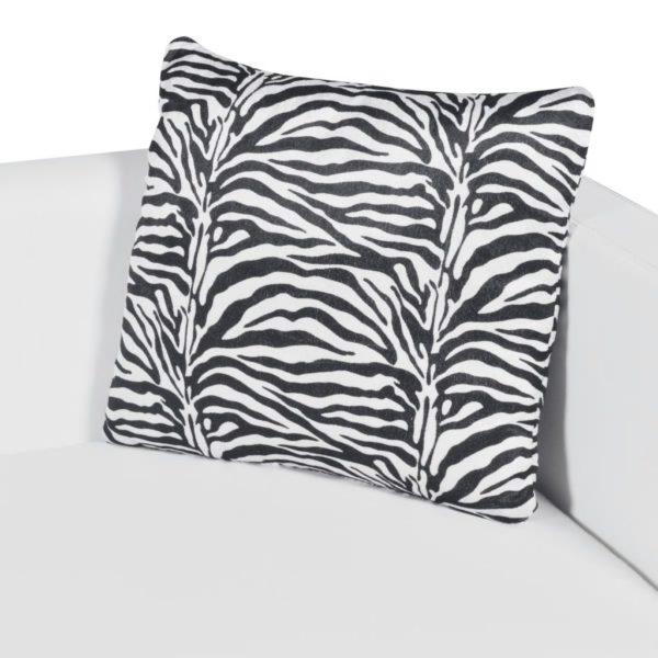3-Sitzer-Sofa Kunstleder Weiß