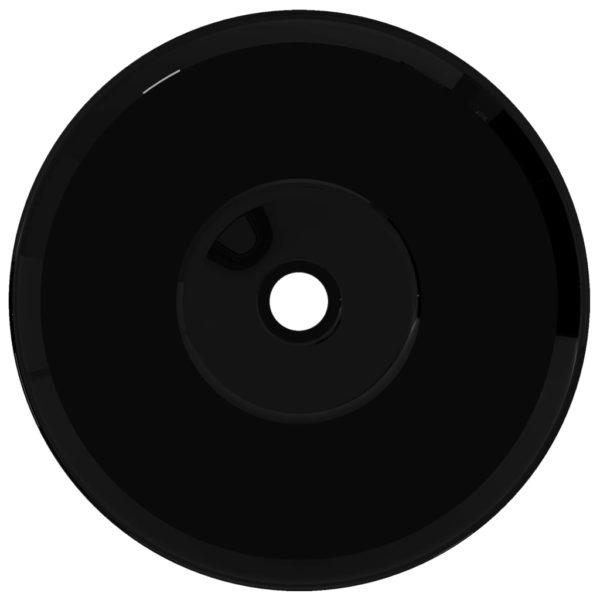 Keramik Waschbecken schwarz rund