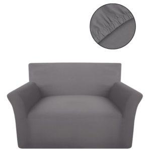 Sofahusse Sofabezug Stretchhusse Grau Baumwoll-Jersey