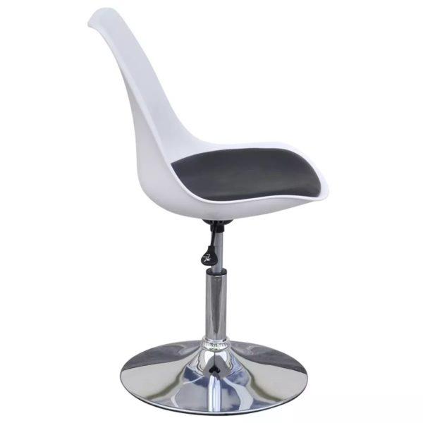 Drehbare Esszimmerstühle 6 Stk. Weiß und Schwarz Kunstleder