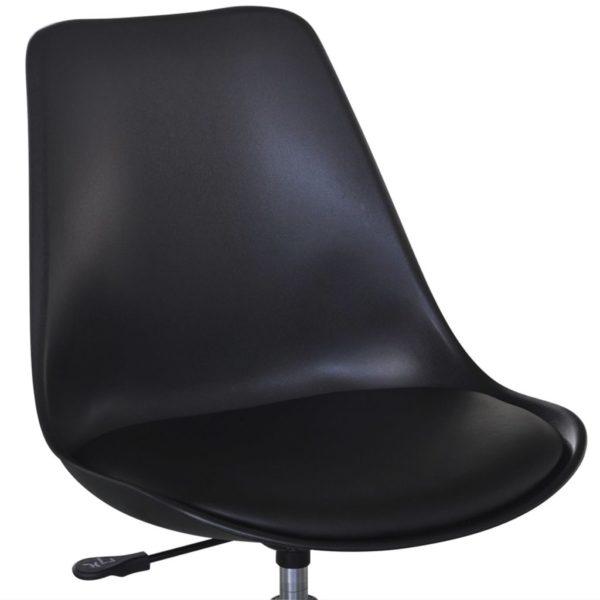 Drehbare Esszimmerstühle 6 Stk. Schwarz Kunstleder