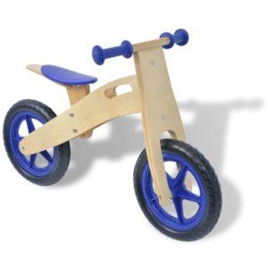 Laufrad Holz Blau
