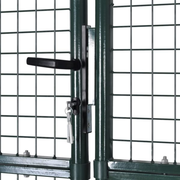 Zauntor Doppeltor aus pulverbeschichtetem Stahl