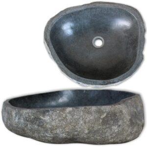 Waschbecken Flussstein oval 46-52 cm