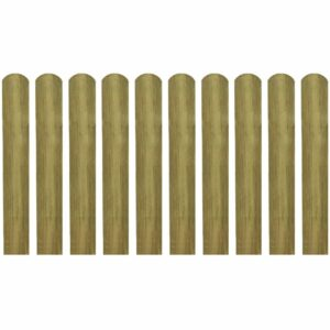 Imprägnierte Zaunlatten 10 Stk. Holz 60 cm