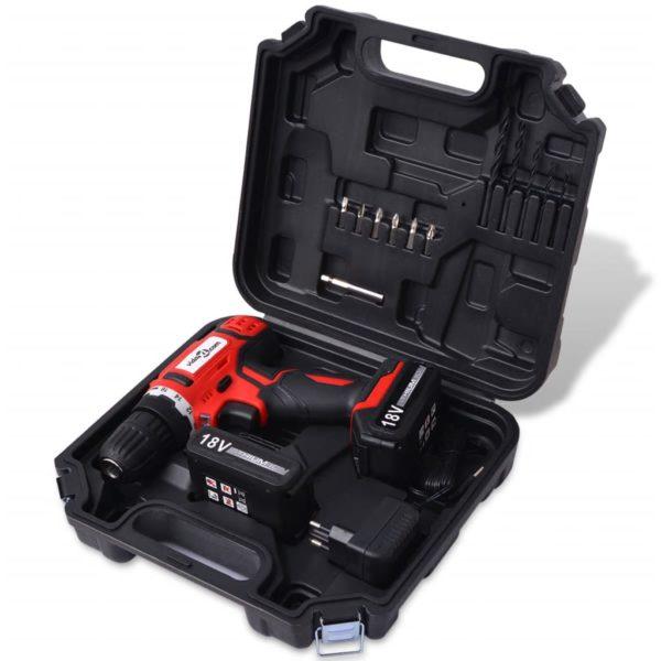 Akku-Bohrschrauber-Kit mit 18 V Li-Ionen-Batterien