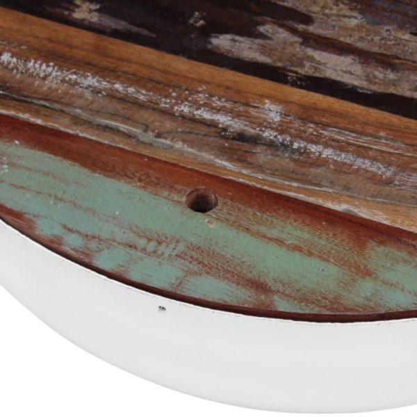 zweiteiliges schüsselförmiges Couchtisch-Set recyceltes Massivholz