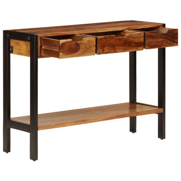 Sideboard mit 3 Schubladen 110 x 35 x 75 cm Massivholz