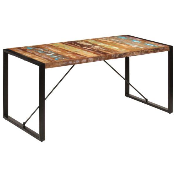 Esstisch 160 x 80 x 75 cm Recyceltes Massivholz
