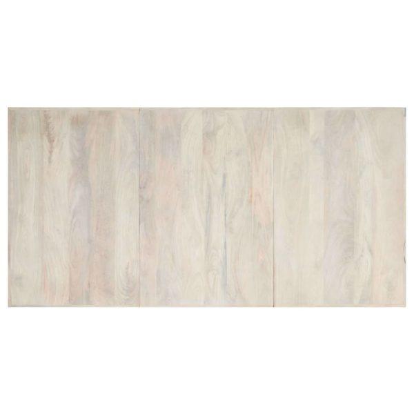 Esstisch Weiß 200×100×75 cm Massivholz Mango