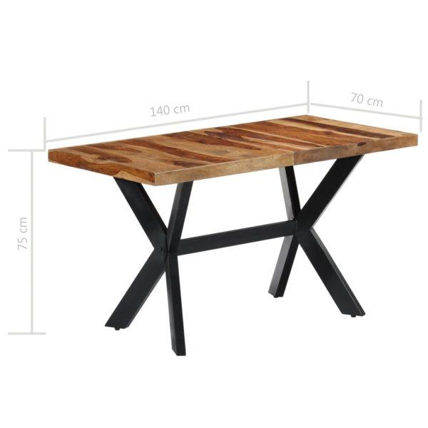 Esstisch 140 x 70 x 75 cm Massivholz