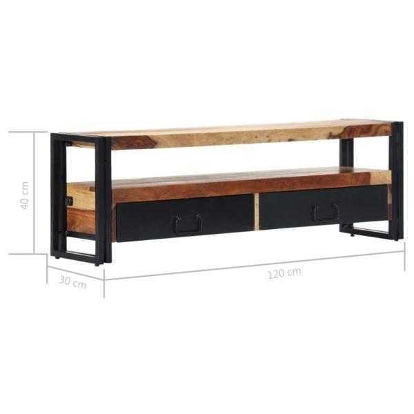TV-Schrank 120×30×40 cm Massivholz