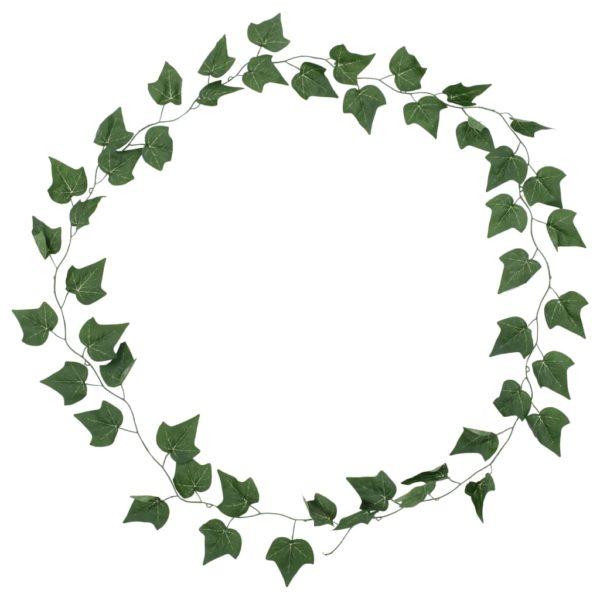 Künstliche Blätter Efeu 5 Stk. Grün 300 cm
