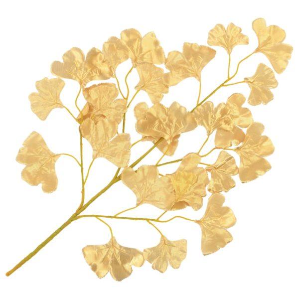 Künstliche Blätter Ginko 10 Stk. Golden 65 cm