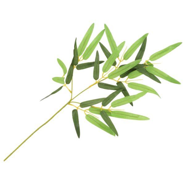 Künstliche Blätter Bambus 10 Stk. Grün 60 cm