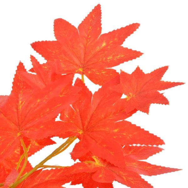 Künstliche Pflanze Ahornbaum mit Topf Rot 120 cm
