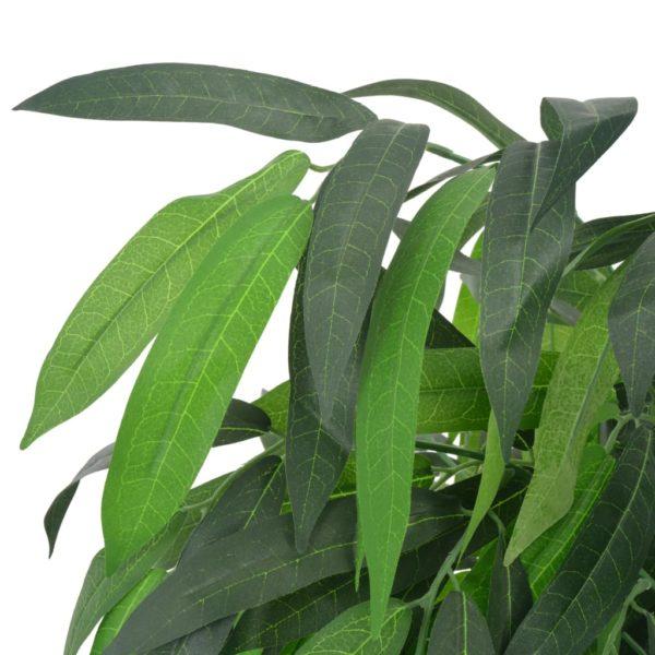 Künstliche Pflanze Mangobaum mit Topf Grün 140 cm