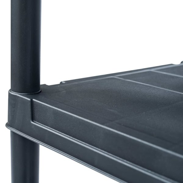 Lagerregal Schwarz 250 kg 80 x 40 x 180 cm Kunststoff