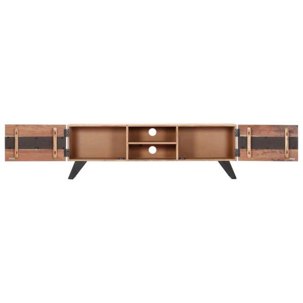 TV-Schrank 140 x 30 x 45 cm Massivholz Akazie