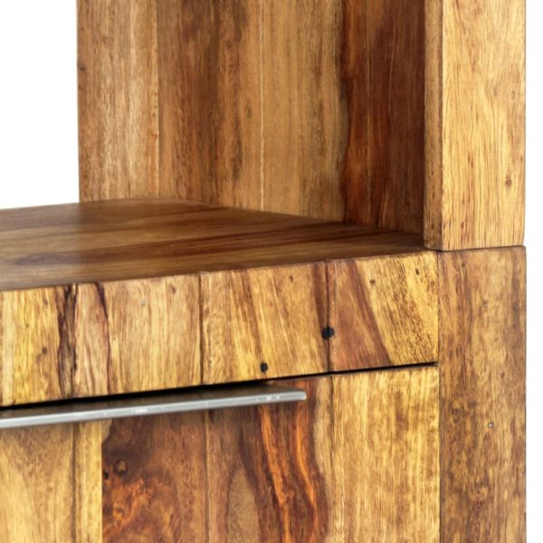 Highboard 45×28×180 cm Massivholz