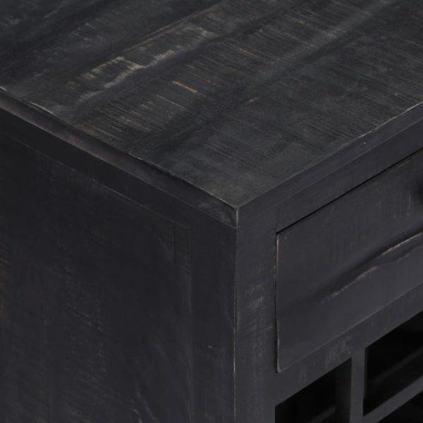 Weinregal Schwarz 56 x 35 x 75 cm Mangoholz Massiv