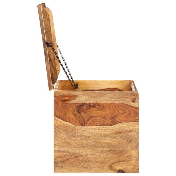 Aufbewahrungstruhe 80 x 40 x 40 cm Massivholz