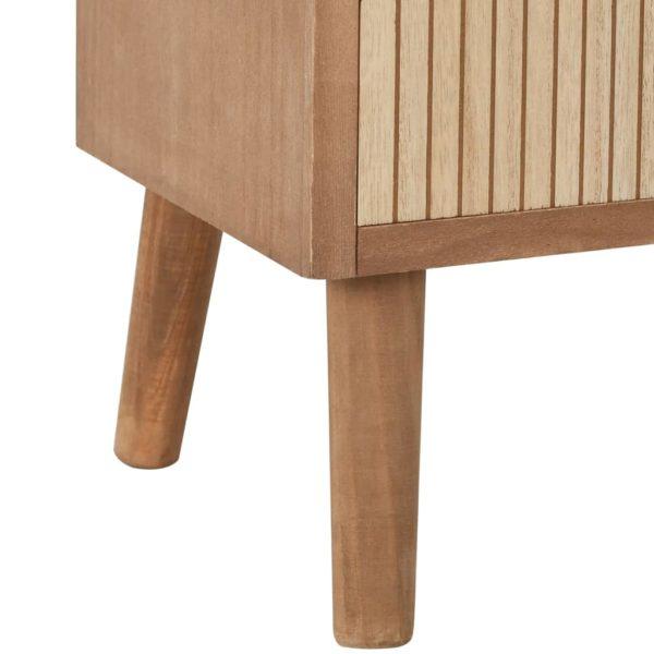 Beistellschrank mit 4 Schubladen Braun 35,5x30x74,5 cm MDF