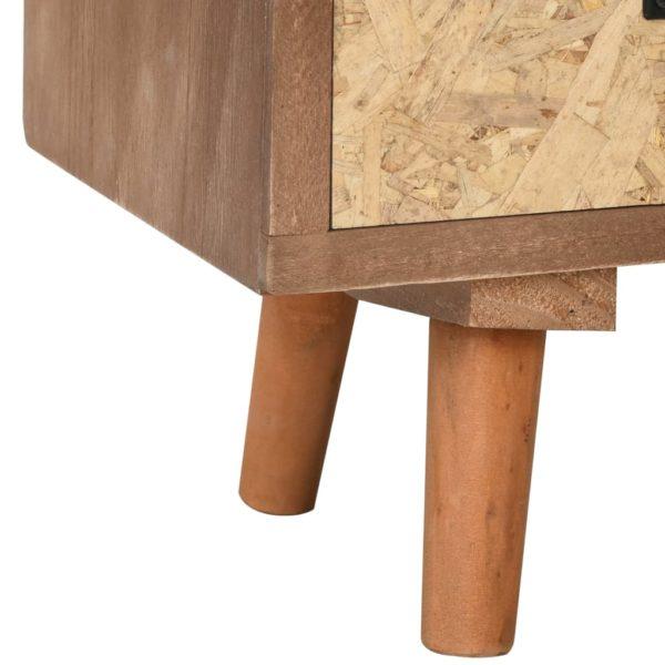 TV-Schrank mit 8 Schubladen 120×30×40 cm Massivholz Kiefer
