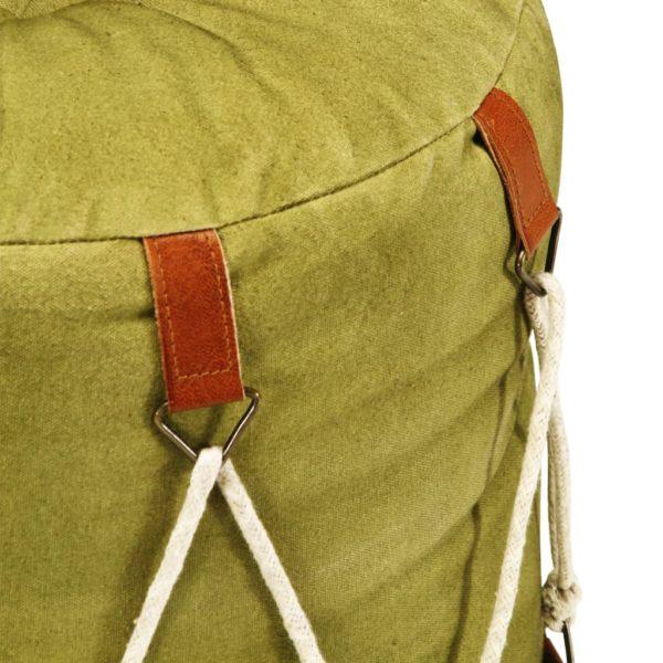 Pouf Grün 40 x 40 cm Baumwoll-Leinwand