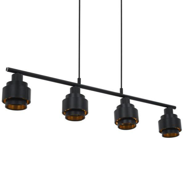 Deckenleuchte Schwarz 82 cm E14