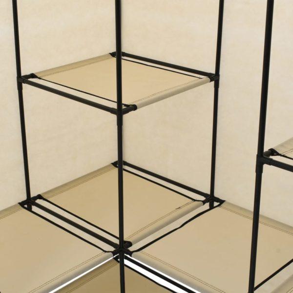 Eckkleiderschrank Creme 130 x 87 x 169 cm