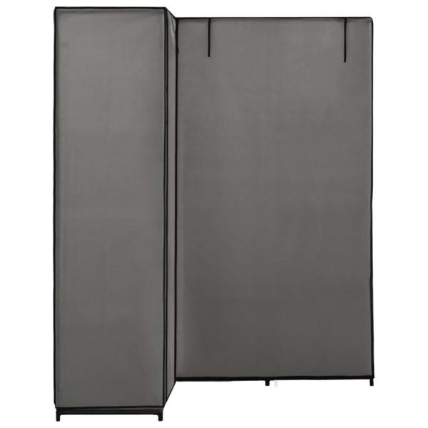 Eckkleiderschrank Grau 130 x 87 x 169 cm