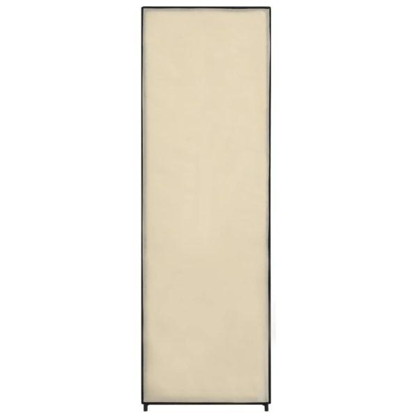 Kleiderschrank Creme 87 x 49 x 159 cm Stoff