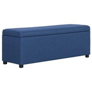 Bank mit Staufach 116 cm Blau Polyester