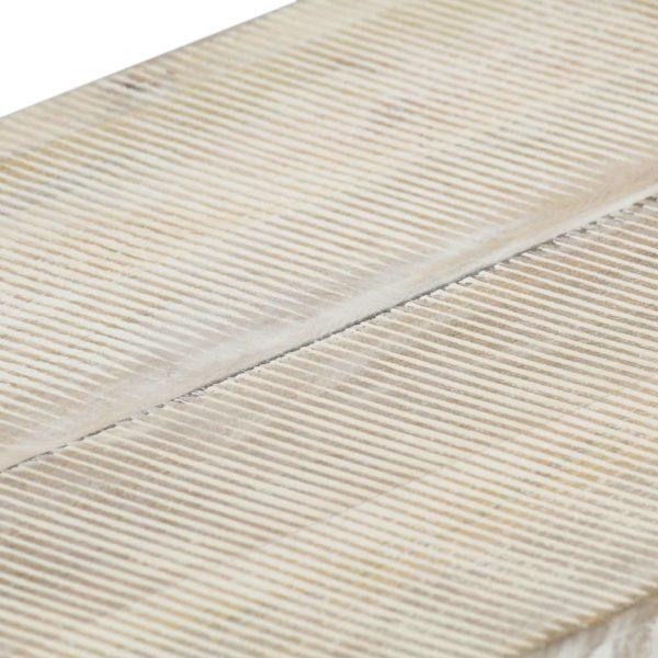 Couchtisch Weiß 110 x 50 x 40 cm Massivholz Mango