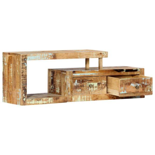 TV-Schrank 120 x 30 x 40 cm Recyceltes Massivholz