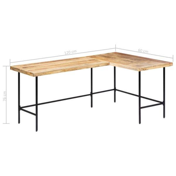 Schreibtisch 120 x 60 x 76 cm Massivholz Mango