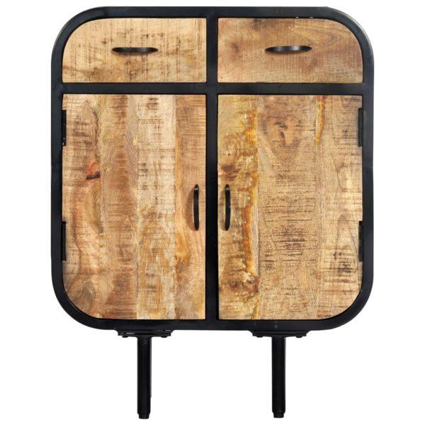 Sideboard 60×30×75 cm Mango-Massivholz und Eisen