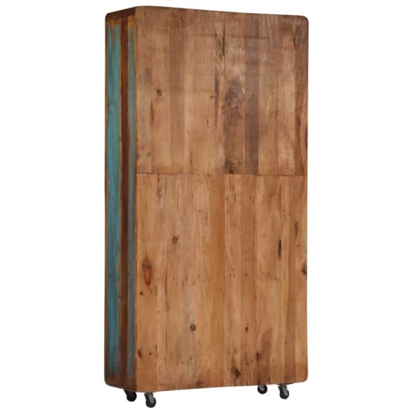 Highboard 90 x 35 x 183 cm Recyceltes Massivholz