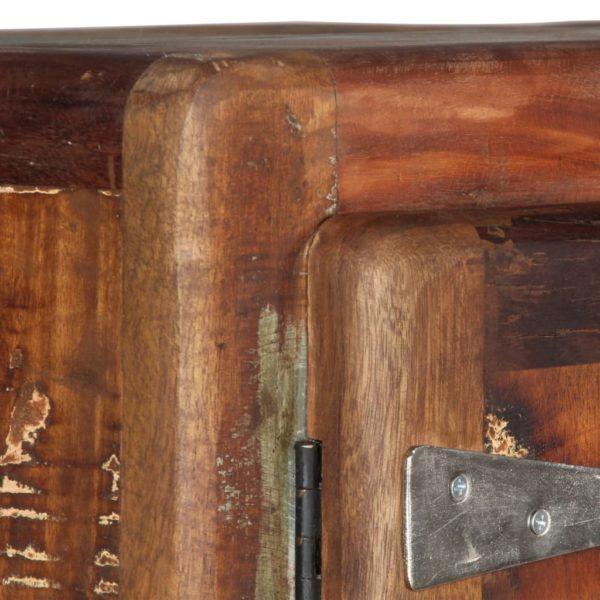 Highboard 90 x 42 x 142 cm Recyceltes Massivholz