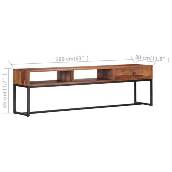 TV-Schrank 160 x 30 x 45 cm Massivholz
