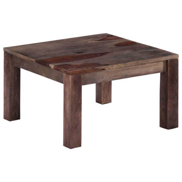 Couchtisch Grau 60 x 60 x 35 cm Massivholz