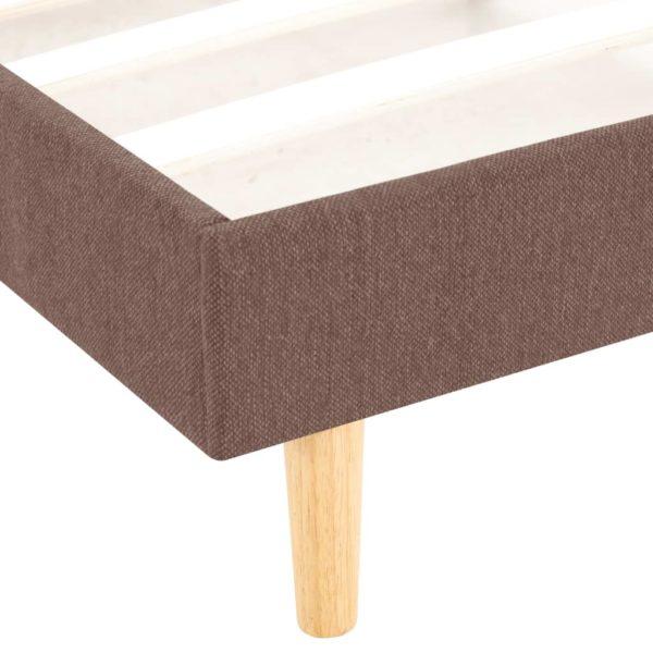 Bettgestell Braun Stoff 160×200 cm