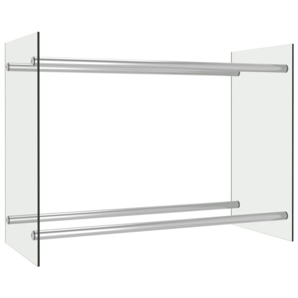 Brennholzregal Transparent 80 x 35 x 60 cm Glas