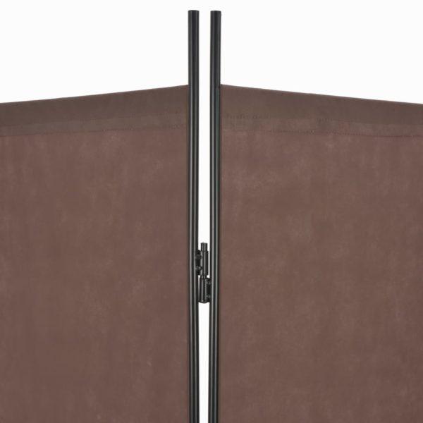 6-tlg. Raumteiler Braun 240×180 cm