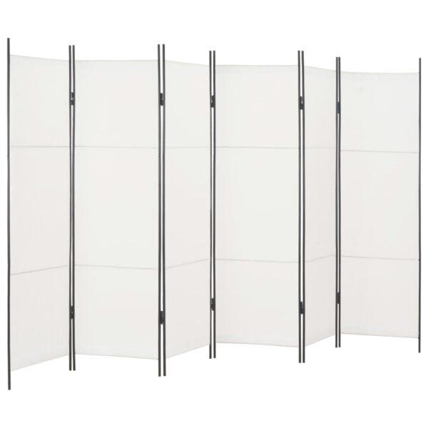 6-tlg. Raumteiler Weiß 300×180 cm