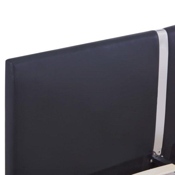 Bettgestell Schwarz Kunstleder 120 x 200 cm