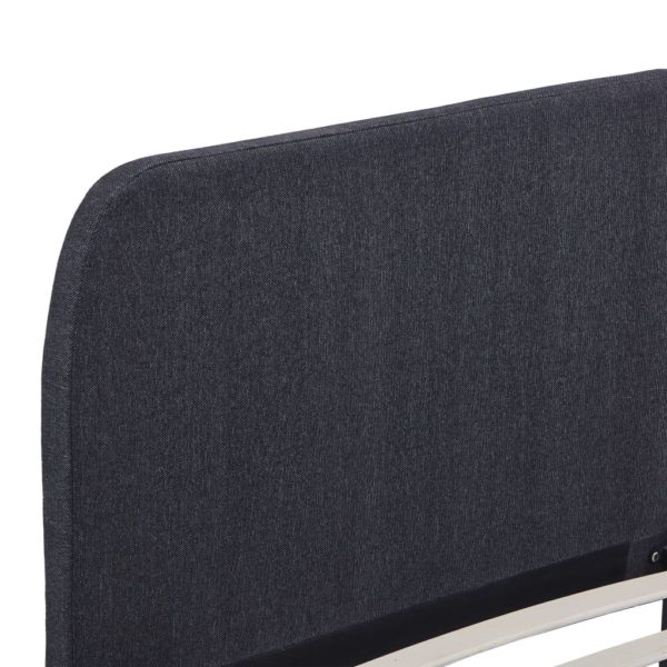 Bettgestell Dunkelgrau Stoff 160 × 200 cm
