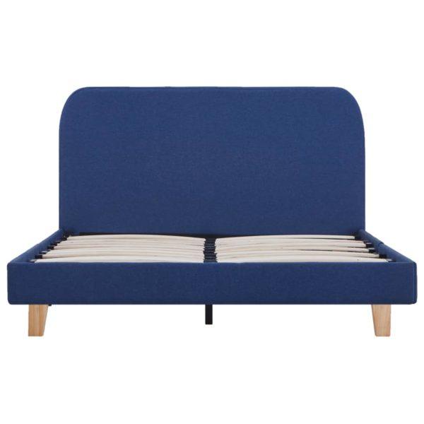 Bettgestell Blau Stoff 120×200 cm