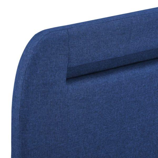 Bettgestell mit LED Blau Stoff 140×200 cm